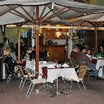 Tables indoors and out - weather permitting!