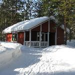Seita Hotels cottage in wintertime, Äkäslompolo