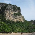  Limestone cliffs on the beach