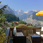  Sun terrace at Hotel Caprice in summer