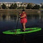My beginners stand up paddle on the Colorado River