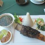 Conro Bakar - local specialty grilled beef. Served in the excellent hotel restaurant.