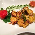 Salmon Tikka, which was amazing!! looked and tasted amazing. This is true Fine dinning.
