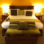 bed in the Solera room
