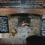 Wonderful Fireplace (and menu's)