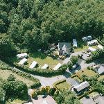 Aerial photo of Trees Caravan Park
