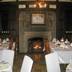  Our tables w fireplace ....