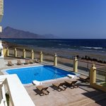  Dahab Hotel ,view from bedroom balcony looking towards Blue hole and pool area!