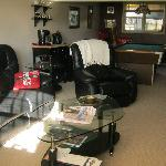  Guest social room with pool table, TV, fireplace etc.