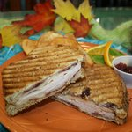 Turkey &amp; Swiss Panini with Cranberry Walnut Sauce...Yum, Yum!!!