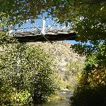 The only walking bridge over the Kern River in the area.