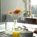 Our breakfast room is south faceing and gets loads of sunshine in the morning