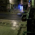  The view from the balcony of my room, this is the hostel&#39;s street on any night