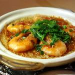 Claypot Rice with Prawns