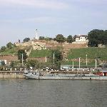 Kalemegdan Fortress seen from the Danube
