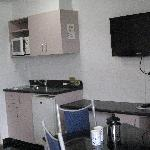  Kitchenette and large tv in all units