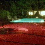 nightview of the pool
