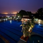 Federal Palace Pool Club at night