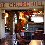 Interior of Churchill Arms