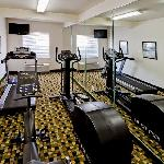 The Fitness room has plenty of cardio equipment to keep you in shape during your trip