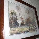  Picture on wall covered in black mold