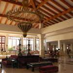 The large Turkish oriented hotel lobby.