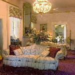 The parlor--common area for guests to gather