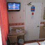 Photo of room I stayed in in...October? There is a flat screen TV in every room as far as I am a