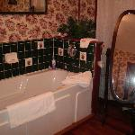 The beautiful bathroom in the Rose Room
