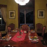 Dining is grand style at Wiss house Kalbar Qld.