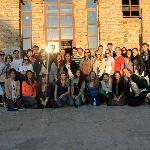 Group of students at Gracanica Monastery