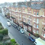 View of Allen Street (just off Kensington High Street) from our apartment