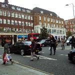  Busy Kensington High Street was just round the corner