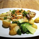 Whole Grilled Plaice with Brown Shrimp