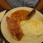 Full english, egg and bacon fine, sausage inedible so didn't order twice