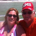 Thanks for a great adventure on your boat. Parasailing was a blast!!!!