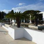 Area in front of The Breeze restaurant