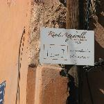 Getting there - sign sending you into back street (Derb Roda)