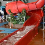                    Red slide - kids ages 2-7 had so much fun