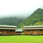  log cabins nestled in the mountain rangers. there are 2 suites in each &quot;house&quot;
