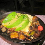 the vegetarian fajitas