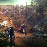 The canvas in the Cyclorama