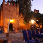 square in Chefchaouen with Kasbah