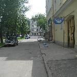 The entrance to the courtyard from the street