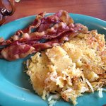 lean bacon and hash browns