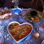 a delicious frittata, pastry and fruit breakfast at Heritage Inn