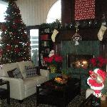  Hotel lobby at Christmastime