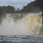  Up close and personal with the falls in Canaima Lagoon