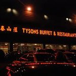 Tysons Buffet & Restaurant at night