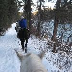 Riding along the river during our trail ride. 12/10/11